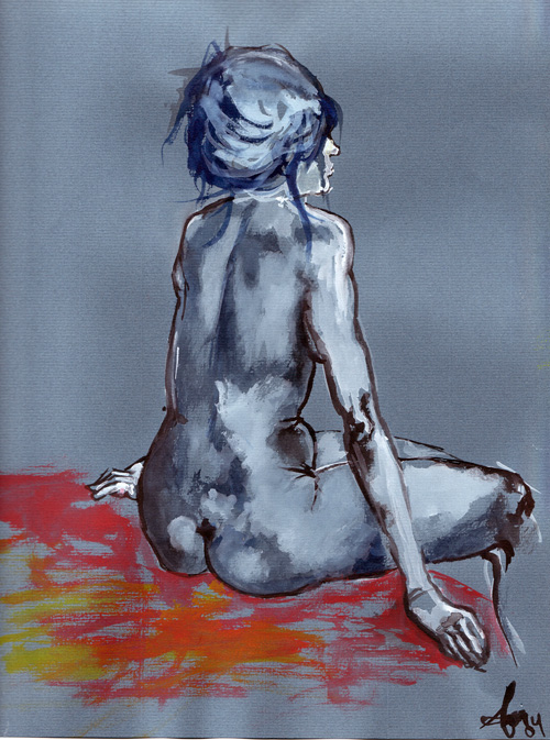 woman water colour 1