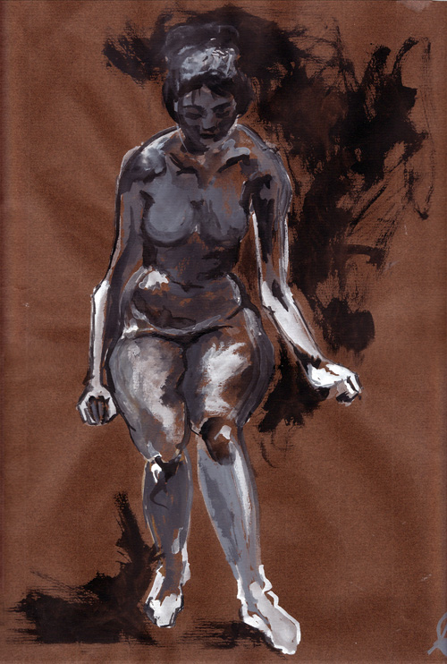 woman watercolour