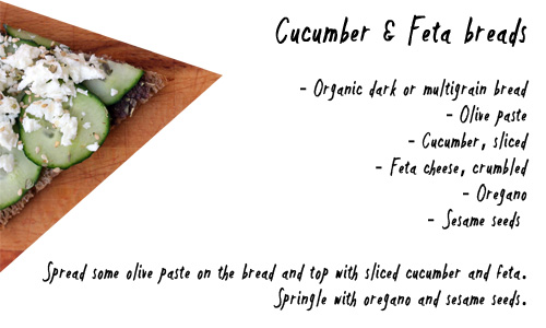 cucumber feta breads